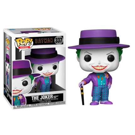 Funko POP o Figura POP DC Comics Batman 1989 Joker with Hat